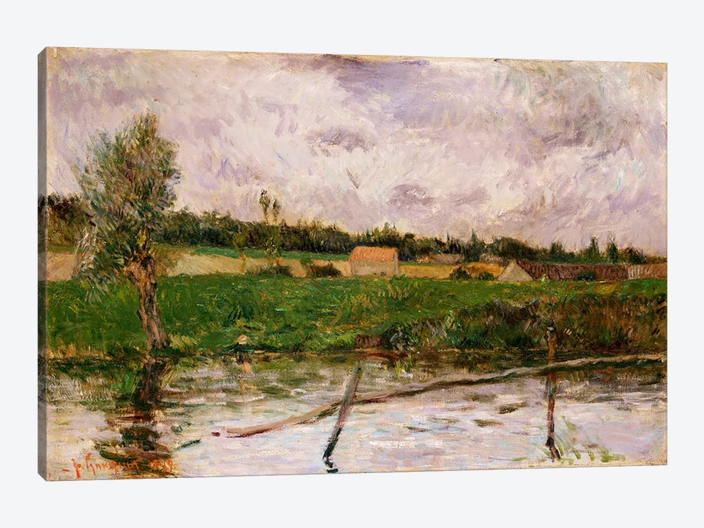Brittany Countryside, 1879  by Paul Gauguin 1-piece Canvas Wall Art