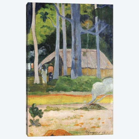Hut in the Trees, 1892  Canvas Print #BMN5043} by Paul Gauguin Canvas Art Print