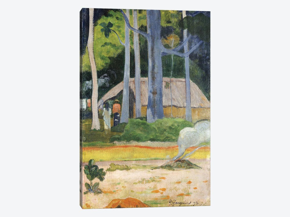 Hut in the Trees, 1892  by Paul Gauguin 1-piece Canvas Wall Art