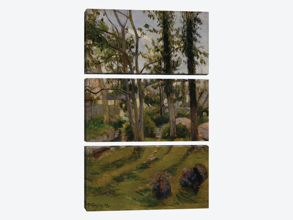 The Turkeys  by Paul Gauguin 3-piece Canvas Art Print