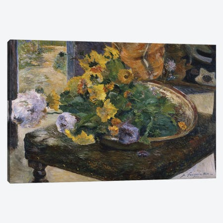 To Make a Bouquet, 1880  Canvas Print #BMN5045} by Paul Gauguin Canvas Art