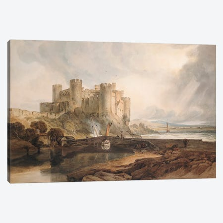Conway Castle, c.1802  Canvas Print #BMN5046} by J.M.W Turner Canvas Artwork