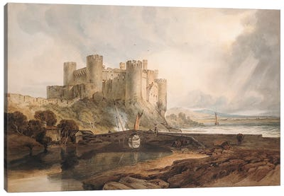 Conway Castle, c.1802 by J.M.W Turner Canvas Artwork