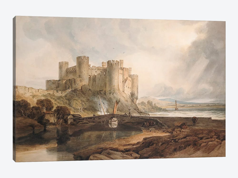 Conway Castle, c.1802 by J.M.W Turner 1-piece Canvas Art Print