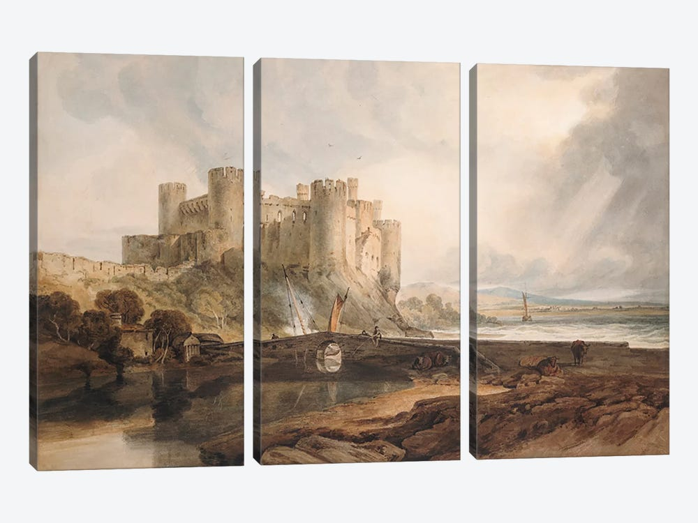 Conway Castle, c.1802 by J.M.W Turner 3-piece Canvas Print