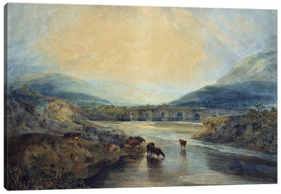 Abergavenny Bridge, Monmouthshire: Clearing Up After a Showery Day  Canvas Art Print