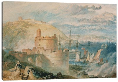 Falmouth Harbour, c.1825  Canvas Art Print