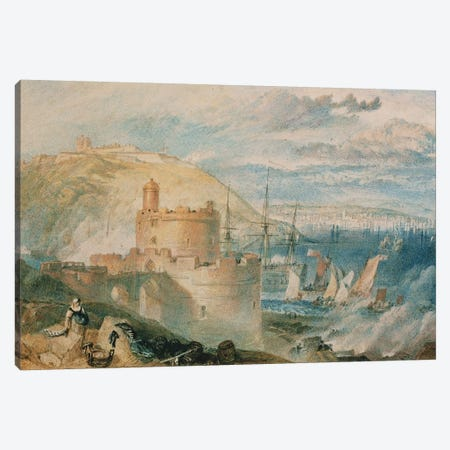Falmouth Harbour, c.1825  Canvas Print #BMN5048} by J.M.W. Turner Canvas Art Print