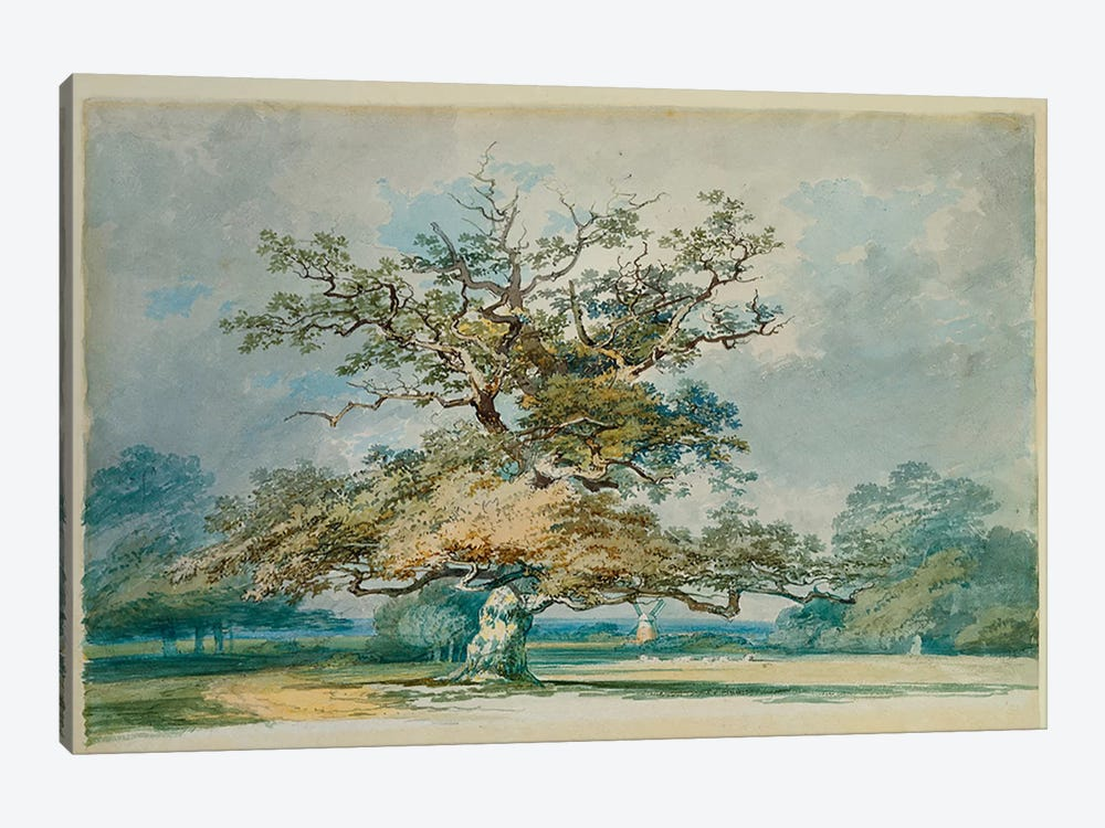 A Landscape with an Old Oak Tree  1-piece Canvas Artwork