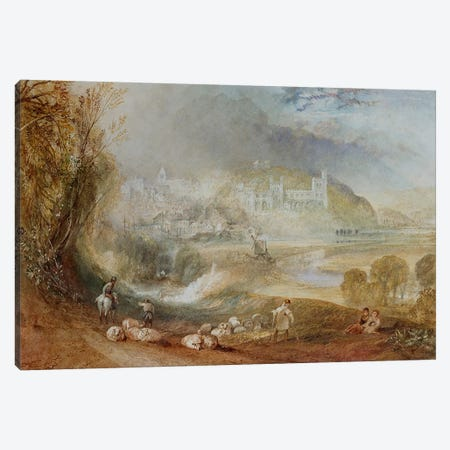 Arundel Castle and Town, c.1824  Canvas Print #BMN5050} by J.M.W Turner Canvas Wall Art
