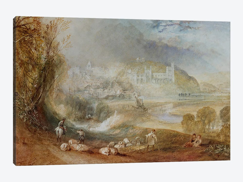 Arundel Castle and Town, c.1824  by J.M.W. Turner 1-piece Canvas Artwork