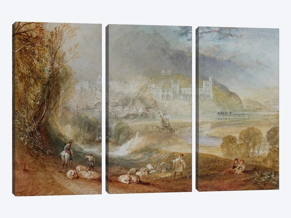 Arundel Castle and Town, c.1824  by J.M.W. Turner 3-piece Canvas Art