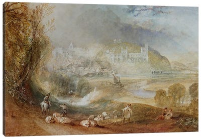 Arundel Castle and Town, c.1824  Canvas Art Print