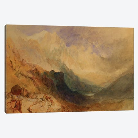 An Alpine Valley, probably the Val d'Aosta  Canvas Print #BMN5052} by J.M.W. Turner Canvas Art