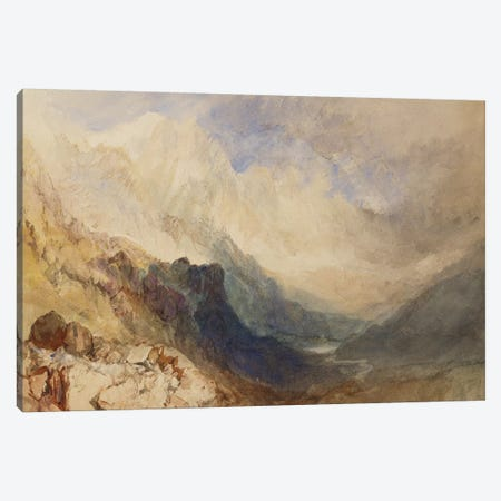 A Scene in the Val d'Aosta  Canvas Print #BMN5053} by J.M.W. Turner Canvas Artwork