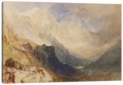 A Scene in the Val d'Aosta  Canvas Art Print