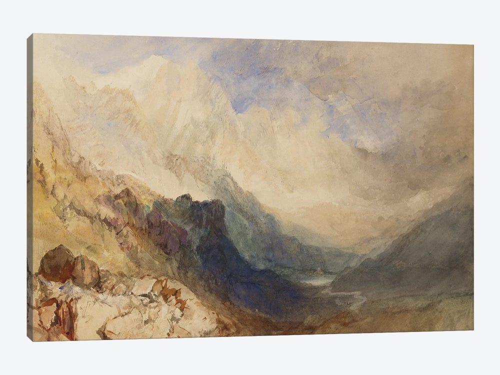 A Scene in the Val d'Aosta  by J.M.W. Turner 1-piece Art Print
