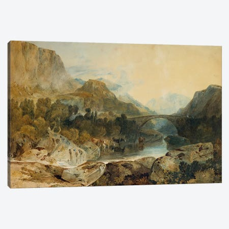 Rosthwaite Bridge, Borrowdale, c.1802  Canvas Print #BMN5054} by J.M.W. Turner Art Print