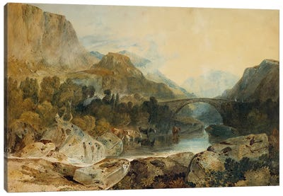 Rosthwaite Bridge, Borrowdale, c.1802  Canvas Art Print