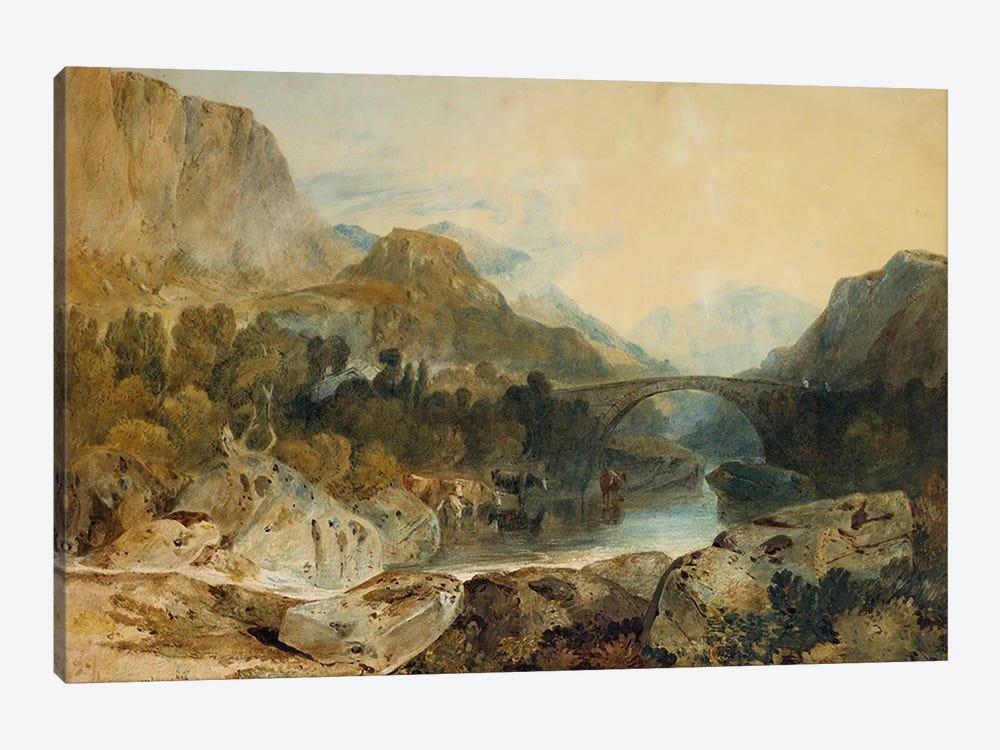 Rosthwaite Bridge, Borrowdale, c.1802  by J.M.W. Turner 1-piece Canvas Wall Art