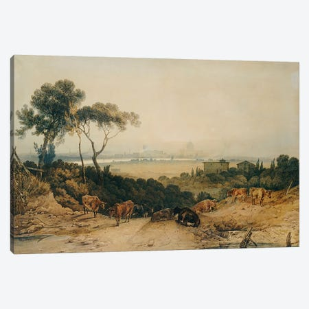London: Autumnal Morning  Canvas Print #BMN5055} by J.M.W. Turner Canvas Print