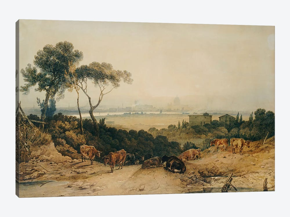 London: Autumnal Morning  by J.M.W. Turner 1-piece Canvas Print