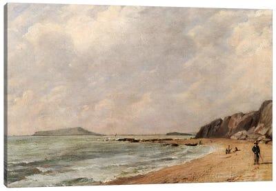 A View of Osmington Bay, Dorset, Looking Towards Portland Island Canvas Art Print