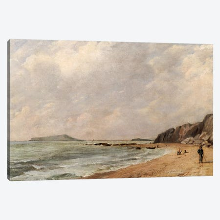 A View of Osmington Bay, Dorset, Looking Towards Portland Island Canvas Print #BMN5058} by John Constable Canvas Artwork