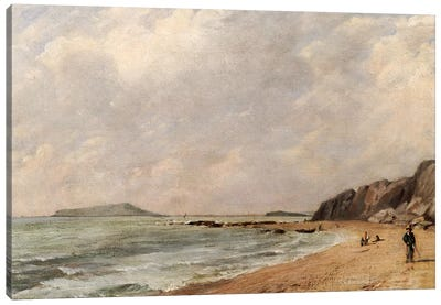 A View of Osmington Bay, Dorset, Looking Towards Portland Island Canvas Art Print
