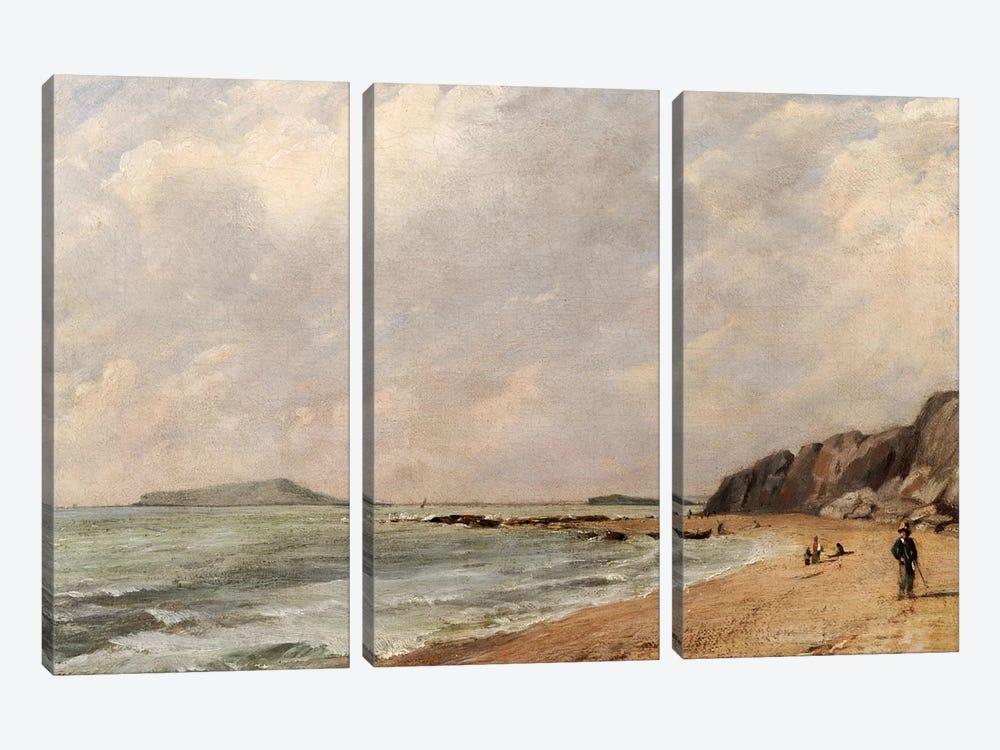 A View of Osmington Bay, Dorset, Looking Towards Portland Island by John Constable 3-piece Canvas Wall Art