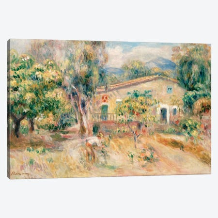 Collettes Farmhouse, Cagnes, 1910  Canvas Print #BMN5063} by Pierre-Auguste Renoir Canvas Art Print