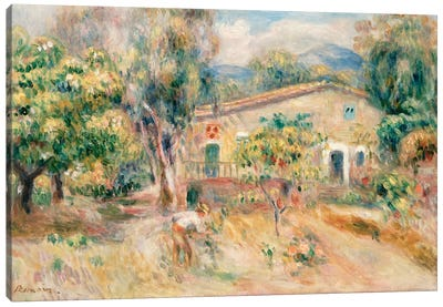 Collettes Farmhouse, Cagnes, 1910 Canvas Art Print
