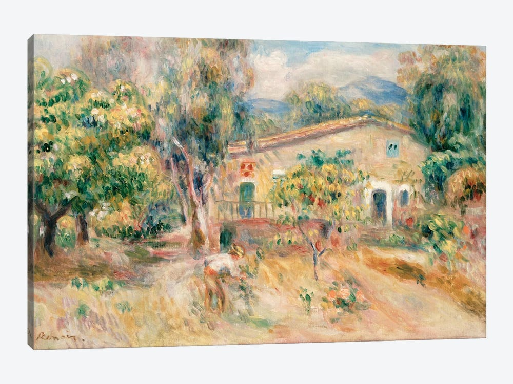 Collettes Farmhouse, Cagnes, 1910  by Pierre-Auguste Renoir 1-piece Canvas Art