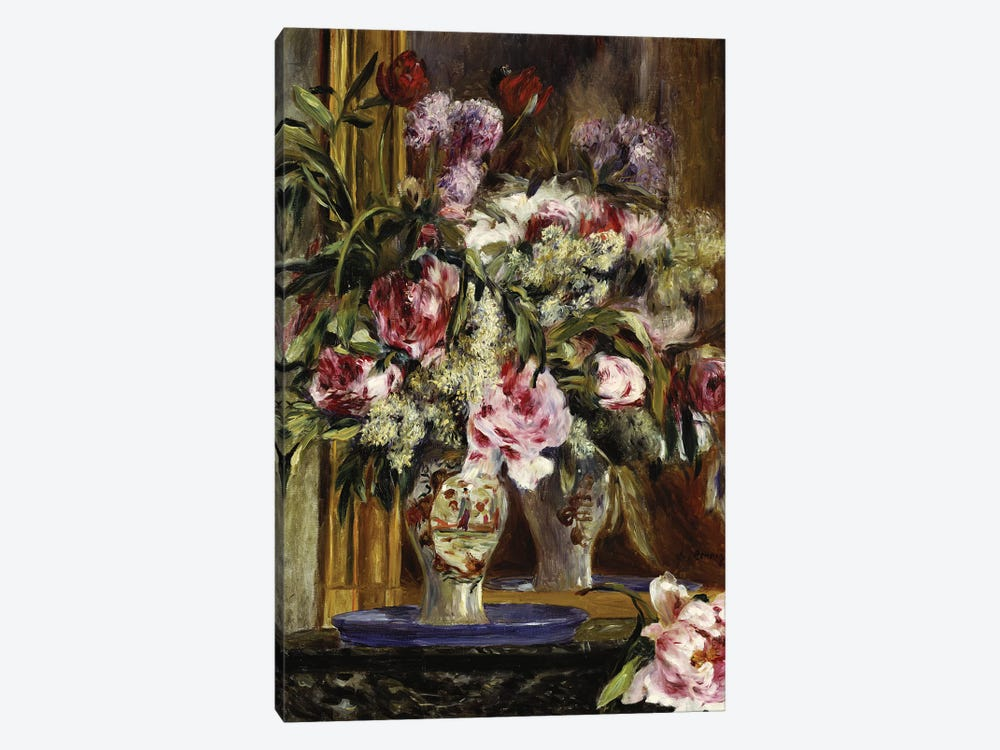Vase of Flowers, 1871  by Pierre-Auguste Renoir 1-piece Art Print