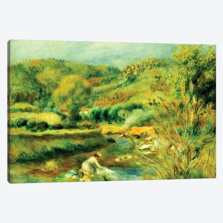 The Washerwoman, c.1891  Canvas Print #BMN5065} by Pierre-Auguste Renoir Canvas Art