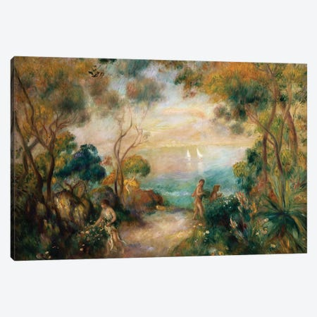 A Garden in Sorrento  Canvas Print #BMN5066} by Pierre-Auguste Renoir Canvas Artwork