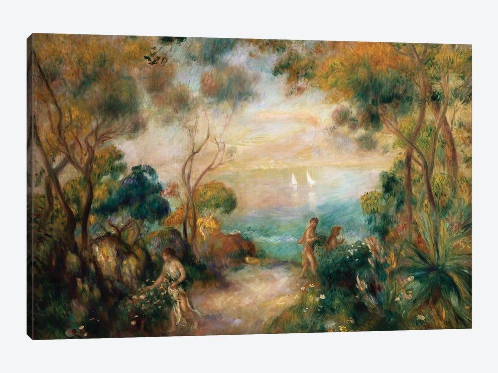 A Garden in Sorrento  by Pierre-Auguste Renoir 1-piece Canvas Print