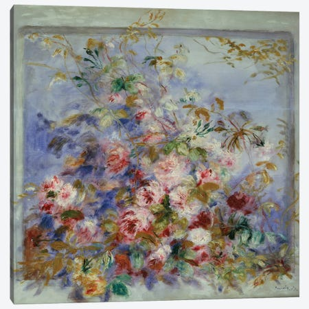 Roses in a Window, 1879  Canvas Print #BMN5068} by Pierre-Auguste Renoir Art Print