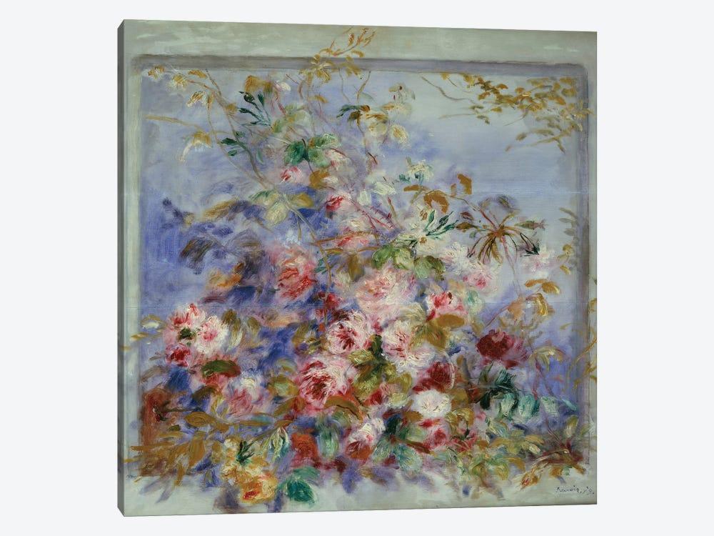 Roses in a Window, 1879  by Pierre-Auguste Renoir 1-piece Canvas Art Print