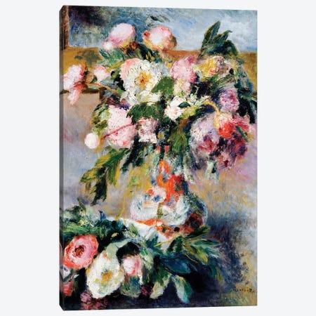 Peonies, 1878  Canvas Print #BMN5069} by Pierre-Auguste Renoir Art Print