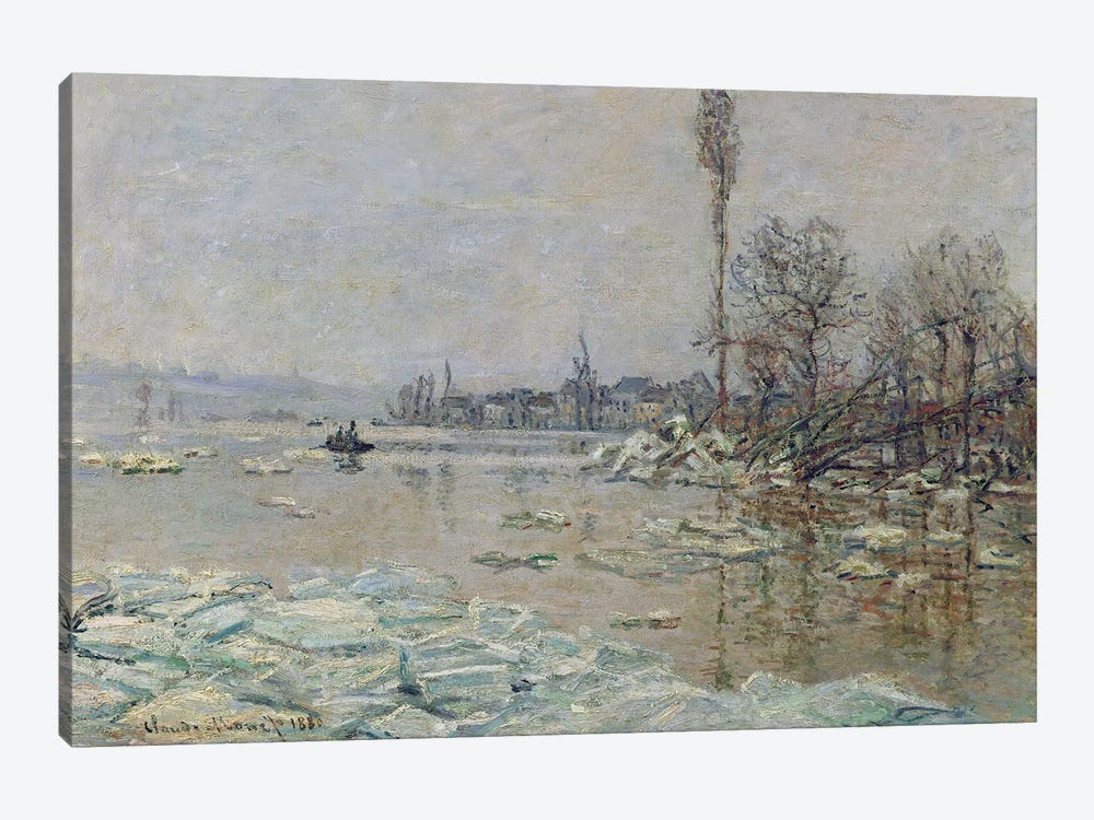 Breakup of Ice, 1880  by Claude Monet 1-piece Canvas Print