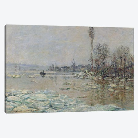 Breakup of Ice, 1880  Canvas Print #BMN506} by Claude Monet Canvas Wall Art