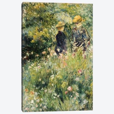 Conversation in a Rose Garden, 1876  Canvas Print #BMN5070} by Pierre-Auguste Renoir Canvas Wall Art