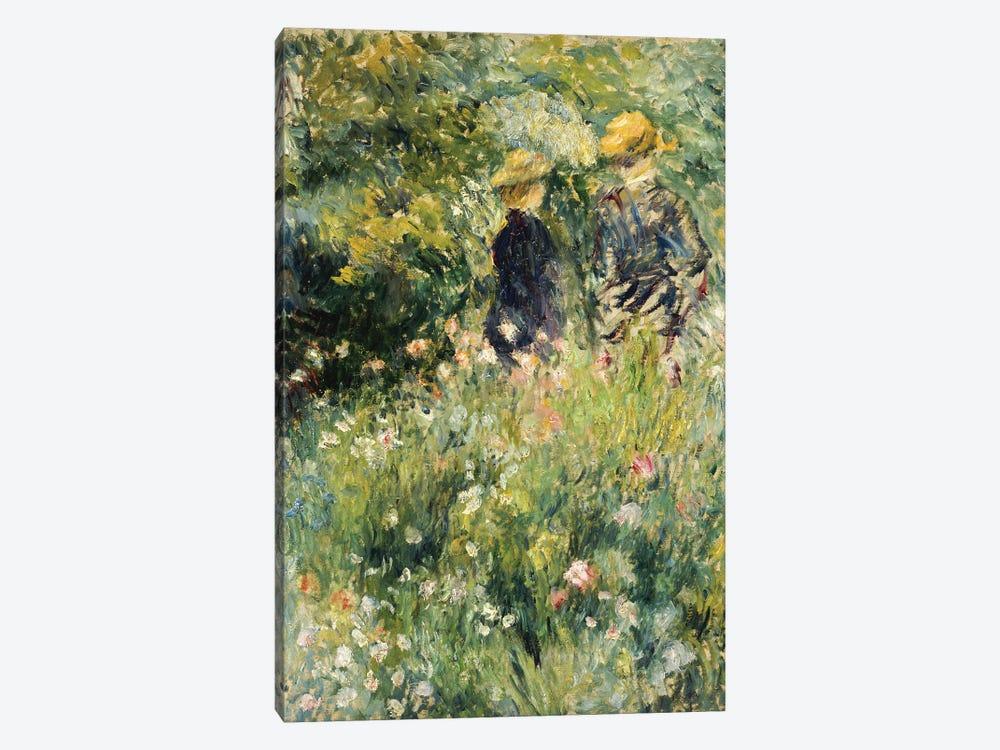 Conversation in a Rose Garden, 1876  by Pierre-Auguste Renoir 1-piece Canvas Wall Art