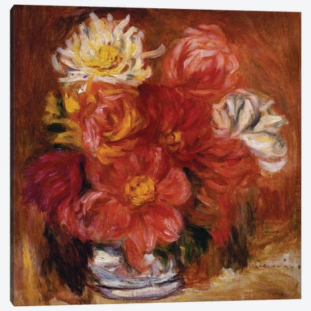 Dahlia, c.1890  Canvas Print #BMN5071} by Pierre-Auguste Renoir Canvas Artwork