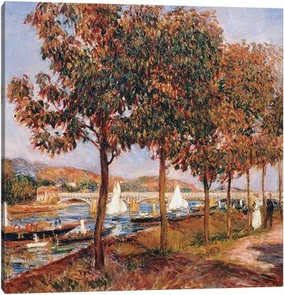 The Bridge at Argenteuil  Canvas Art Print