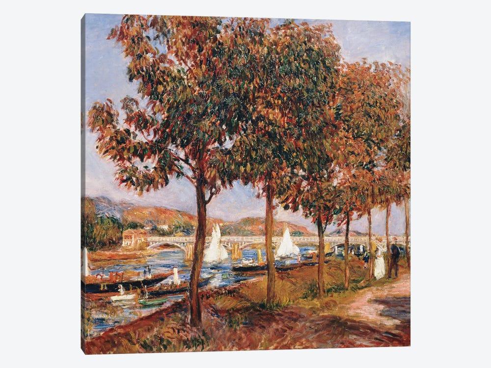 The Bridge at Argenteuil  by Pierre-Auguste Renoir 1-piece Canvas Wall Art