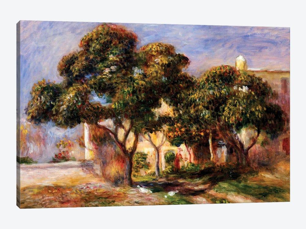 The Medlar Trees  by Pierre-Auguste Renoir 1-piece Canvas Art Print