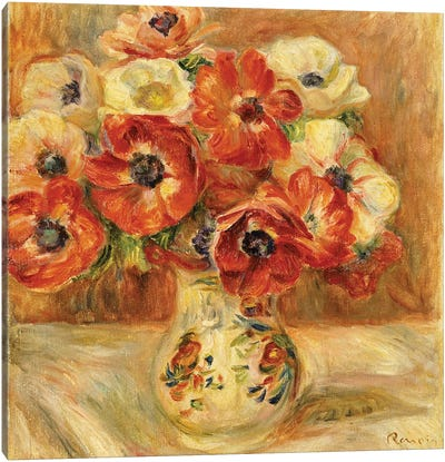 Still Life with Anemones  Canvas Art Print