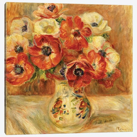 Still Life with Anemones  Canvas Print #BMN5077} by Pierre-Auguste Renoir Canvas Print